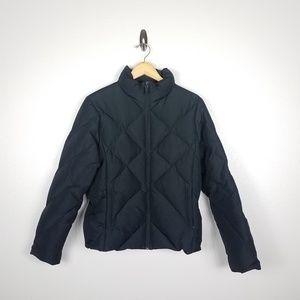Nine West Womens Puffer Jacket  Size M Black